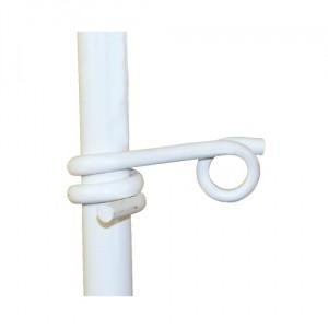 Izolátor očkový na sklolaminátové tyče, pro lanko a pásku do 10mm