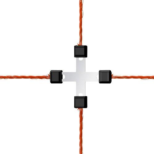 Spojka na lanko do 3mm - kříž, 5ks