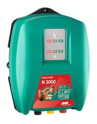 Elektrický ohradník POWER PROFI 3000, určen pro skot, ovce, koně a divokou zvěř