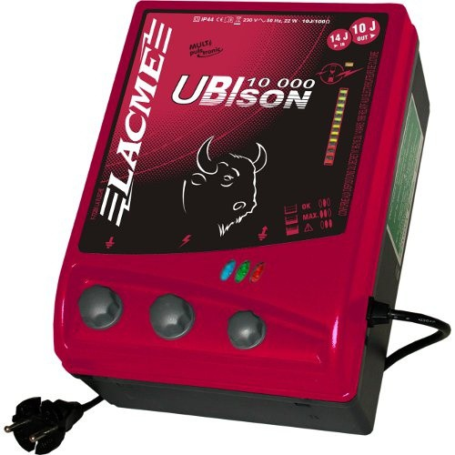 Elektrický ohradník síťový UBISON 10000, určen pro skot, ovce, koně a divokou zvěř