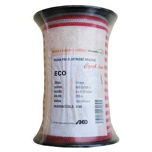 Páska pro elektrický ohradník ECO, 10mm, 200m