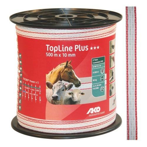 Páska pro elektrický ohradník Top-Line Plus, 10mm, 500m