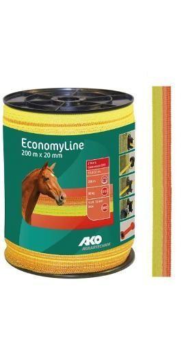 Páska pro elektrický ohradník, EconomyLine, 20mm, 200m