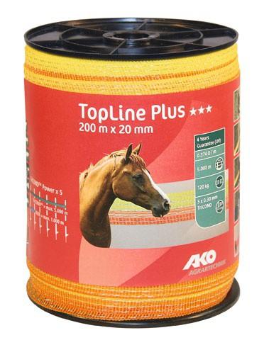 Páska pro elektrický ohradník, Top-Line Plus, 20mm, 200m