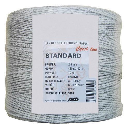 Lanko pro elektrický ohradník STANDART, Ø 2,5mm, 800m