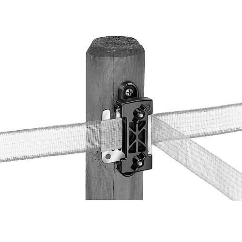 Izolátor pro elektrické ohradníky k pásce do 40mm, průběžný - PROFI