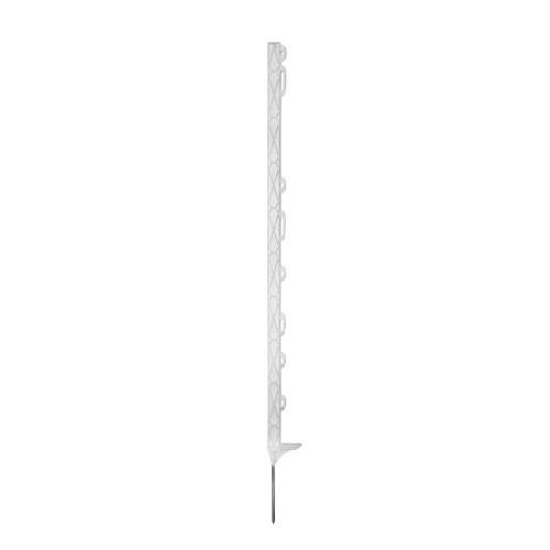 Tyčka pro elektrický ohradník, plast bílý, 90cm, 8 úchytů