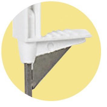 Tyčka pro elektrický ohradník, plast bílý, výztuha, 90cm, 8 úchytů