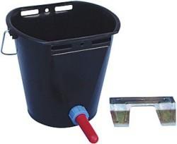 Napájecí kbelík pro telata, komplet s dudlíkem a držákem