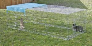Výběh pro králíky, hlodavce a drůbež, 230 x 115 x 70cm