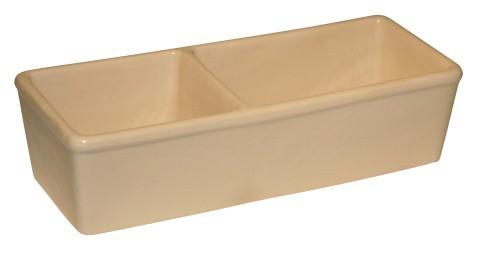 Miska keramická hranatá dvojitá, 350ml + 450ml