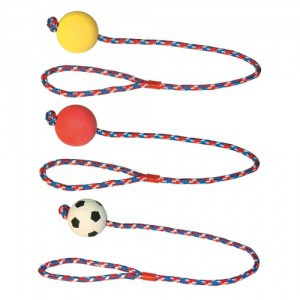Hračka pro psa - provaz s gumovým míčkem