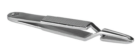 Pinzeta vytahovací kovová, 7cm