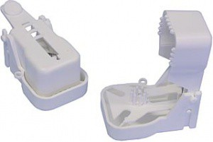 Pastička na myši bílá, plastová