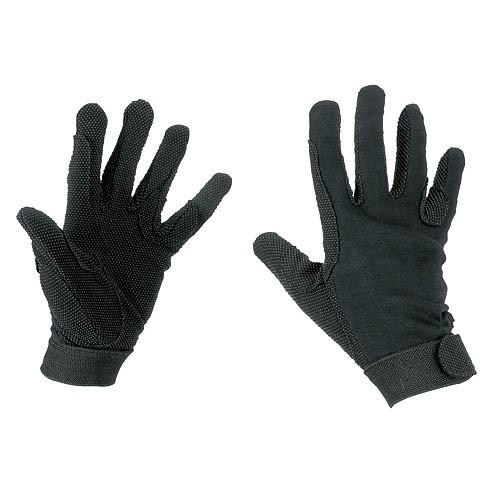 Jezdecké rukavice JERSEY bavlněné, černé