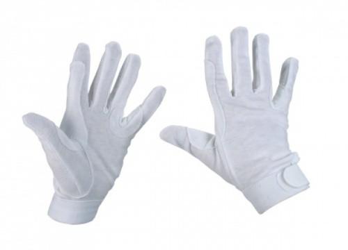 Jezdecké rukavice JERSEY bavlněné, bílé
