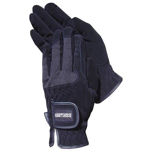 Jezdecké rukavice strečové, černé