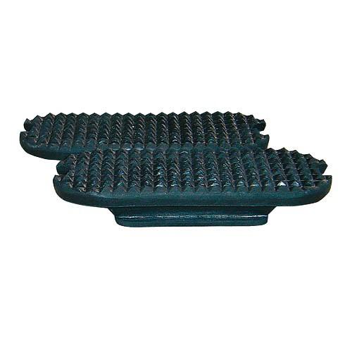 Gumy do třmenů rovné 12 cm, černé