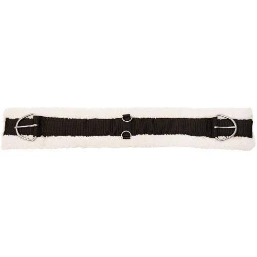 Podbřišník westernový nylon s umělým beránkem, černý