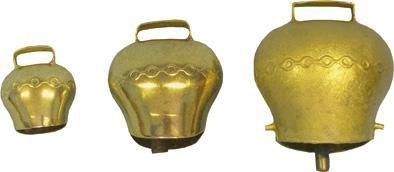 Zvonec plechový mosazný Ø 90mm