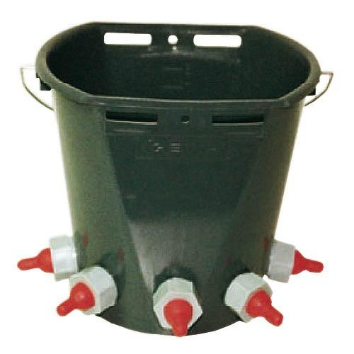 Napájecí kbelík pro jehňata kmpl. s 5 dudlíky