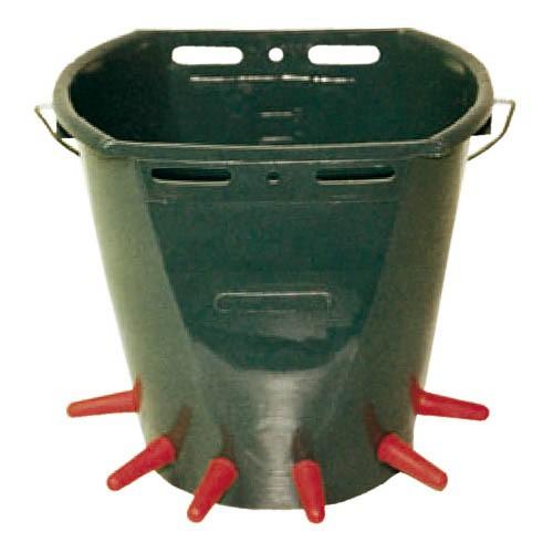 Napájecí kbelík pro jehňata kmpl. s 6 dudlíky