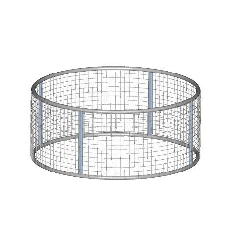 Příkrmiště kruhové se sítí, pozink, pr. 210 cm