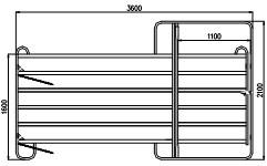 TEXAS branka pozink, 6 příček, v. 1,6 m, délka 3,6 m
