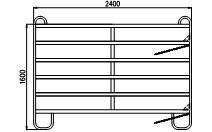 TEXAS panel pozink, 6 příček, v. 1,6 m, délka 2,4 m