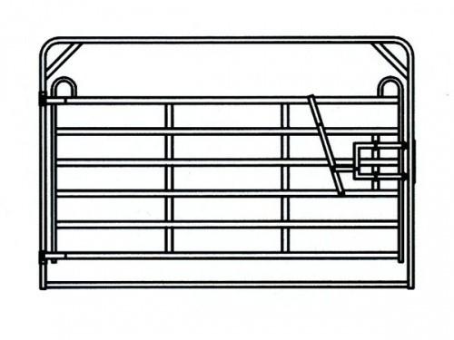 TEXAS panel pozinkbrána se samočiným zavíráním, 6 příček, v. 1,6 m, délka 3,2 m