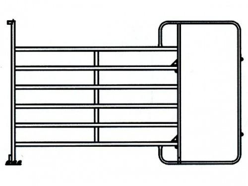 TEXAS panel pozink s rámem pro chodbu, 6 příček, v. 1,6 m, délka 3,0 m