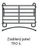 TEXAS panel pozink zaoblený, 6 příček, v. 1,6 m