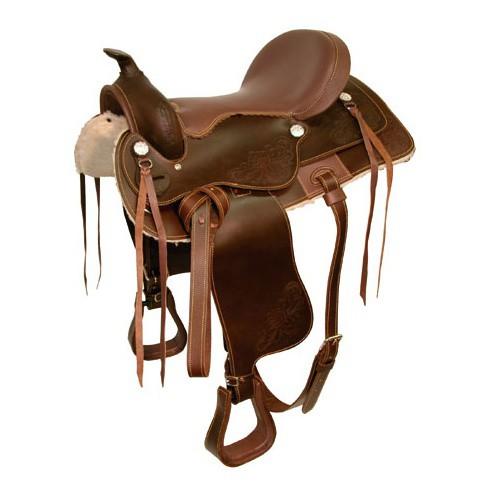 Westernové sedlo hobby, velikost posedlí 16´ + podbřišník, hnědé