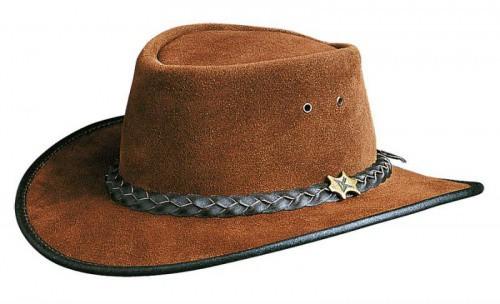Westernový klobouk BC HAT Hat'n the Pouch kožený