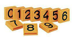 Číslo na opasek, výška znaku 32 mm, číslice 0-9