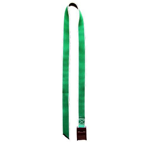 Krční řemen zelený s plastovou sponou 130 cm