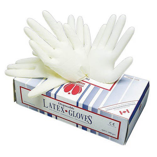 Jednorázové rukavice latexové LOON - pudrované 100 ks