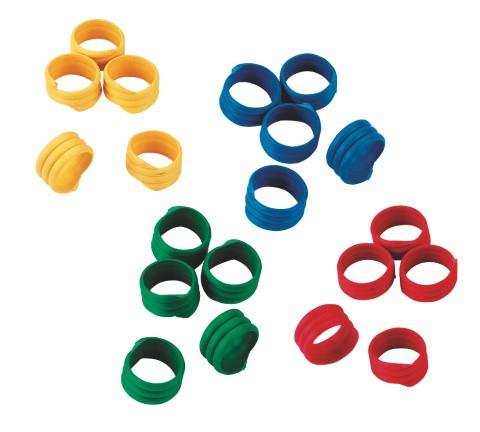 Kroužek spirálový pro drůbež 18 mm, 20 ks