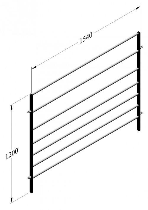 Panel pro ovce 1600 x 1200 mm, pozinkováno