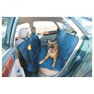Deka pro psa do auta, s cestovní láhví na pití