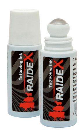 Tetovací barva RAIDEX ROLL ON 65 ml černá