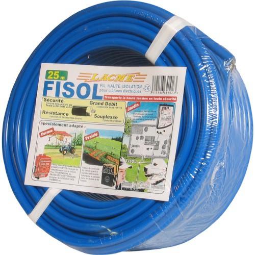 Vysokonapěťový kabel FISOL pro elektrické ohradníky, 25m, dvojitá izolace