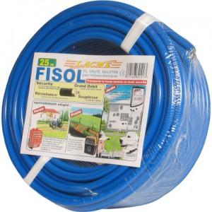 Vysokonapěťový kabel FISOL pro elektrické ohradníky, 100m, dvojitá izolace
