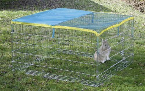 Výběh pro králíky, morčata a jiné hlodavce 115 x 115 x 65cm, ochranná síťka