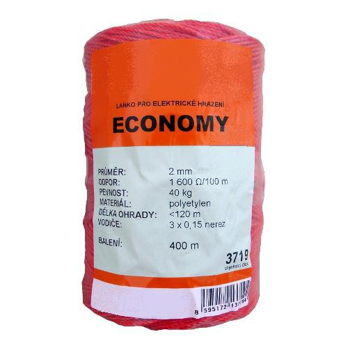 Polyetylenové lanko pro elektrický ohradníky 2 mm ECONOMY