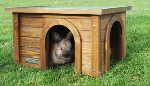 Domek pro králíka, venkovní do výběhu
