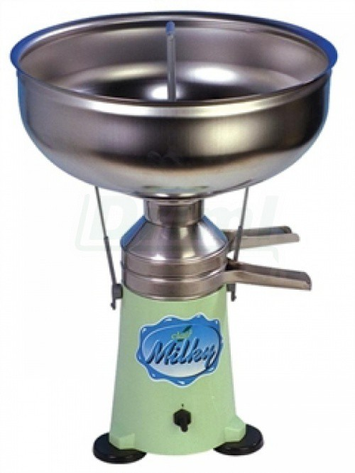 Odstředivka na mléko MILKY FJ 125 nerezová nálevka a výpustní kanálky