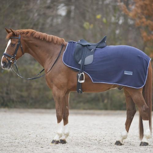 Bederní deka pro koně, fleece, FULL, modrá