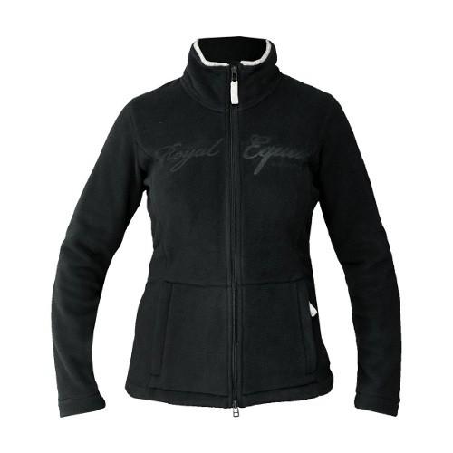 Jezdecká mikina SARA dámská, fleece, černá