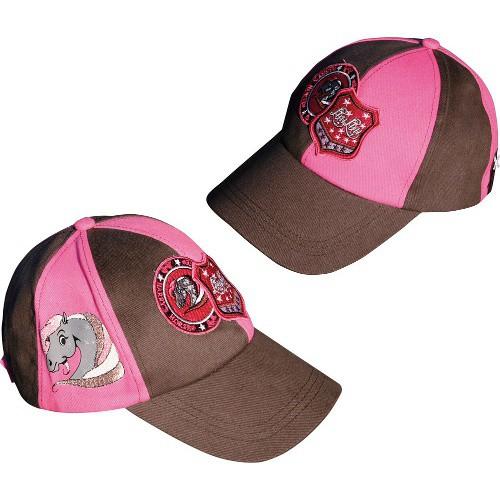 Kšiltovka LouLou pro holky, růžovo-hnědá